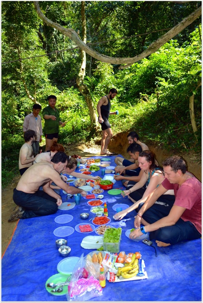 Lunch at Phong Nha caves