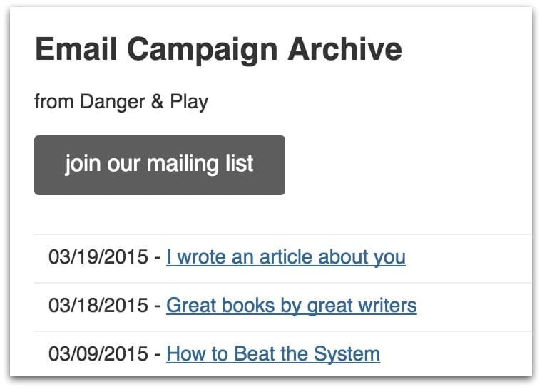 email newsletter open rate