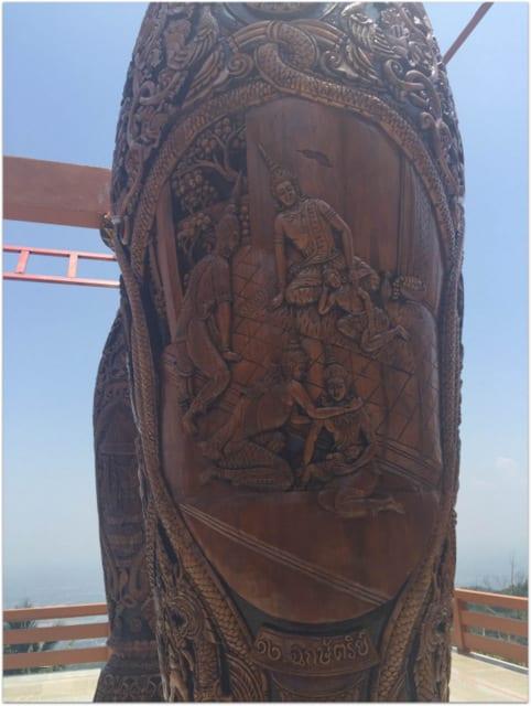 Chiang Mai doi suthep wood engravings temple